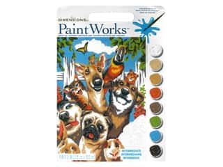 Paint Works Paint By Number Kit 9 in. x 12 in. Pet Selfie