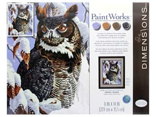 craft & hobbies: Paintworks Paint By Number Kit 11 x 14 in. Winter Watch