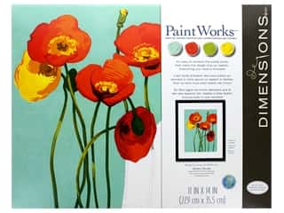 craft & hobbies: Paintworks Paint By Number Kit 11 x 14 in. Colorful Blooms