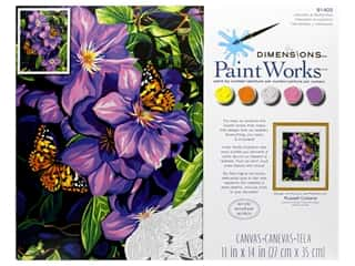 Paint Works Paint By Number Kit 11 in. x 14 in. Clematis & Butterflies