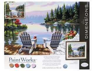 Paintworks Paint By Number Kit 20 x 16 in. Lakeside Morning
