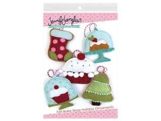 Jennifer Jangles Felt Bake Shop Holiday Ornaments Pattern