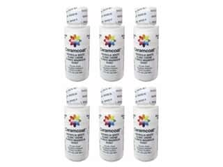 Delta Ceramcoat Acrylic Paint 2 oz. #2487 Magnolia White (6 pack)