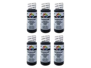 Delta Ceramcoat Acrylic Paint - #2436 Charcoal 2 oz. (6 pack)