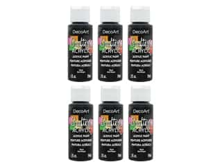 DecoArt Crafter's Acrylic Paint 2 oz. #47 Black (6 pack)