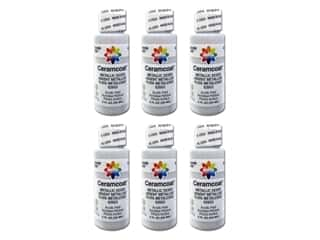 Delta Ceramcoat Acrylic Paint 2 oz. #2603 Metallic Silver (6 pack)