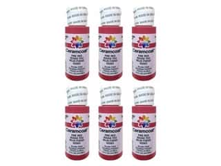 Delta Ceramcoat Acrylic Paint - #2083 Fire Red 2 oz. (6 pack)