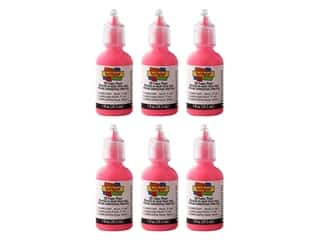 Scribbles 3D Fabric Paint 1oz Fluorescent Neon Pink 6pc