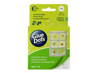 glue dots: Glue Dots Roll Removable 1/2 in. 200 pc.