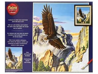 craft & hobbies: Paintworks Paint By Number Kit 16 x 20 in. Soaring Eagle