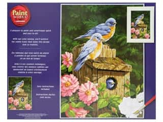 Paintworks Paint By Number Kit 14 x 11 in. Garden Bluebirds