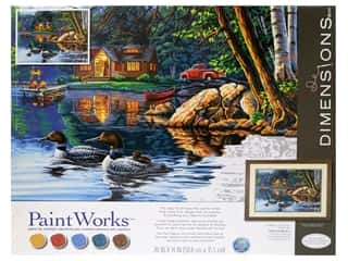 Paintworks Paint By Number Kit 20 x 14 in. Echo Bay