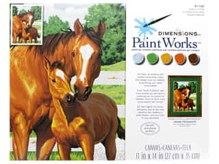 craft & hobbies: Paintworks Paint By Number Kit 11 x 14 in. Mothers Pride
