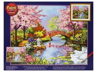 craft & hobbies: Paintworks Paint By Number Kit 20 x 16 in. Japanese Garden (2 kits)