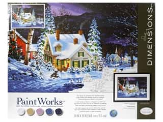 craft & hobbies: Paintworks Paint By Number Kit 20 x 14 in. Winters Hush