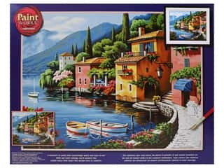 craft & hobbies: Paintworks Paint By Number Kit 20 x 16 in. Lakeside Village