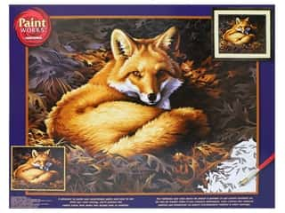 craft & hobbies: Paintworks Paint By Number Kit 20 x 16 in. Sunlit Fox
