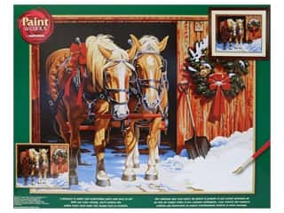 craft & hobbies: Paint Works Paint By Number Kit 20 in. x 16 in. Ready For The Ride