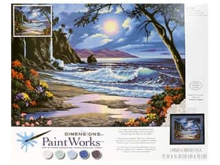 craft & hobbies: Paintworks Paint By Number Kit 20 x 16 in. Moonlit Paradise