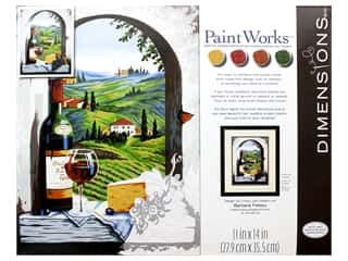 craft & hobbies: Paintworks Paint By Number Kit 11 x 14 in. Tuscan View