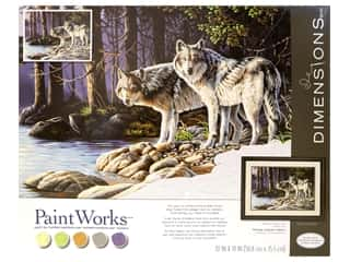 craft & hobbies: Paintworks Paint By Number Kit 20 x 14 in. Gray Wolves