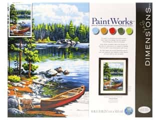craft & hobbies: Paintworks Paint By Number Kit 14 x 20 in. Canoe By The Lake
