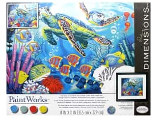 craft & hobbies: Paintworks Paint By Number Kit 14 x 11 in. Sea Turtles