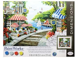 craft & hobbies: Paintworks Paint By Number Kit 14 x 11 in. Cafe By The Sea
