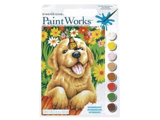 craft & hobbies: Paintworks Paint By Number Kit 9 x 12 in. Puppy Gardener