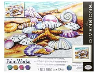 craft & hobbies: Paintworks Paint By Number Kit 14 x 11 in. Shells