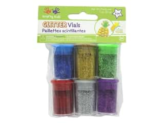 craft & hobbies: Multicraft Krafty Kids Twinkle Town Glitter Vials Metallic Assortment