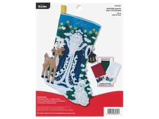 projects & kits: Bucilla Felt Kit Winter Santa Stocking