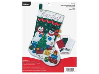 yarn & needlework: Bucilla Felt Kit Snowman Decorating Tree Stocking
