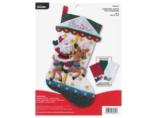 projects & kits: Bucilla Felt Kit Carousel Santa Stocking