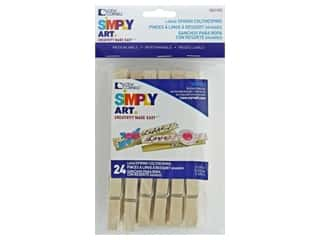 Loew Cornell Simpy Art Large Spring Clothespins 24 pc.