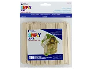 craft & hobbies: Loew Cornell Simply Art Wood Craft Sticks 150 pc.