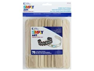 craft & hobbies: Loew Cornell Simpy Art Jumbo Craft Sticks 75 pc.