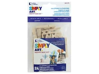 Loew Cornell Simpy Art Mini Spring Clothespins 24 pc.