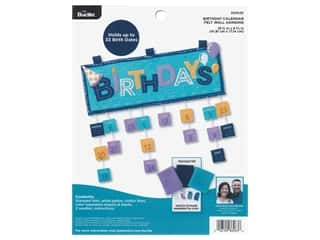 yarn: Bucilla Felt Kit Cathie & Steve Birthday Calendar