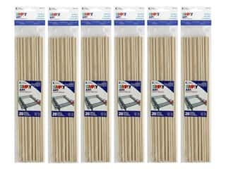 Loew Cornell Simpy Art Wood Dowel 12 x 3/16 in. 20 pc. (6 pack)