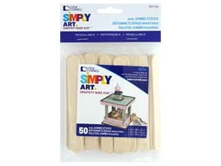 Loew Cornell Simpy Art Mini Jumbo Craft Sticks 50 pc.