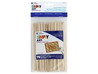 craft & hobbies: Loew Cornell Simply Art Wood Skinny Craft Sticks 75 pc.