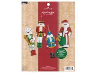 Bucilla Felt Kit Hallmark Santa & Nutcracker Tree Trimmers 4 pc
