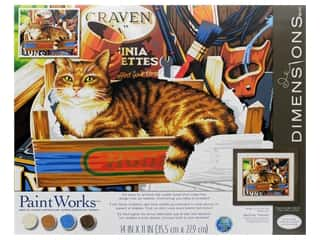Paintworks Paint By Number Kit 14 x 11 in. Cat Signs