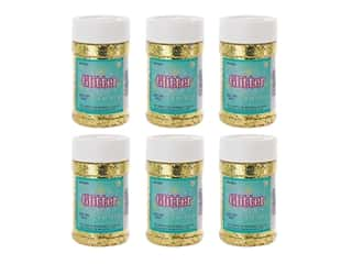 Sulyn Glitter 4oz Jar Gold 6pc