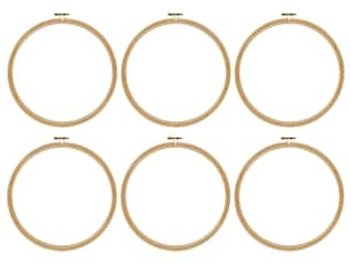 Darice Wood Embroidery Hoop 8 in. (6 pack)