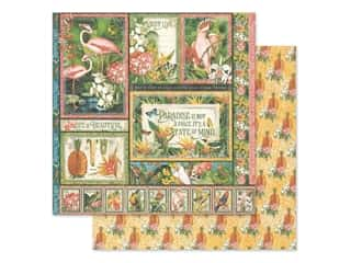 scrapbooking & paper crafts: Graphic 45 Lost In Paradise Paper 12 in. x 12 in. Exotic Panorama (25 pieces)