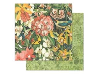 scrapbooking & paper crafts: Graphic 45 Lost In Paradise Paper 12 in. x 12 in. Resplendent Plumage (25 pieces)