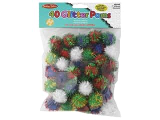 Creative Arts Pom Poms 1 in. 40 pc Glitter Assorted