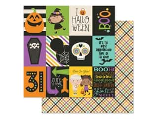 Simple Stories Collection Say Cheese Halloween Paper 12 in. x 12 in. Elements 3 in. x 4 in. (25 pieces)